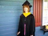 My Mom on the day of her Graduation
