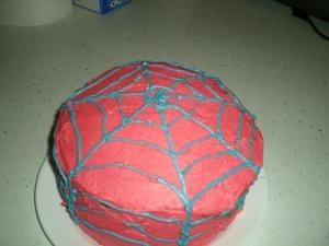 """spiderman cake"""